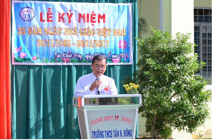 Trường THCS Tân Khánh Đông  tổ chức kỷ niệm 35 năm ngày Nhà giáo Việt Nam (20/11/1982-20/11/2017)