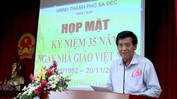 Thành phố Sa Đéc tổ chức họp mặt kỉ niệm Ngày nhà giáo Việt nam