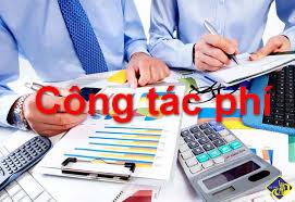 Chế độ công tác phí thực hiện từ 01/01/2018