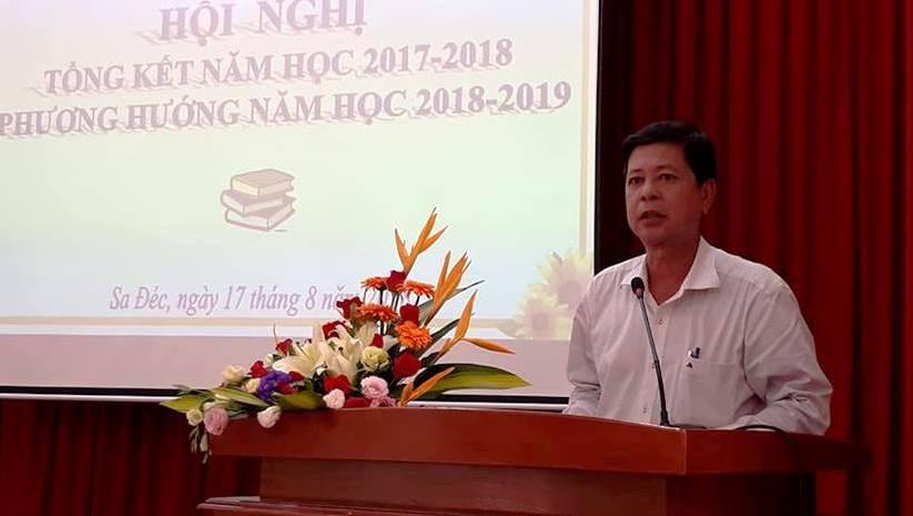 Ông Lăng Minh Nhựt - Phó Chủ tịch UBND TP Sa Đéc phát biểu chỉ đạo tại Hội nghị